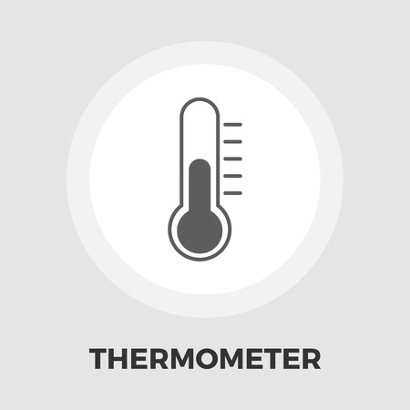 rising temperature: Thermometer Icon Vector. Flat icon isolated on the white background. Editable EPS file. Vector illustration. Illustration