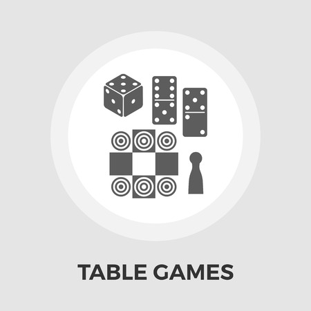 table games: Table games icon vector. Flat icon isolated on the white background. Editable EPS file. Vector illustration.