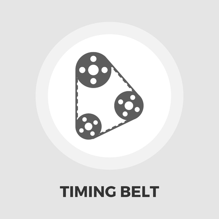 timing belt: Timing belt icon vector. Flat icon isolated on the white background. Editable EPS file. Vector illustration.