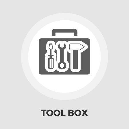 computer repairing: Tool box icon vector. Flat icon isolated on the white background. Editable EPS file. Vector illustration.