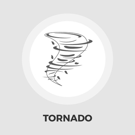 hailstorm: Tornado icon vector. Flat icon isolated on the white background. Editable EPS file. Vector illustration.