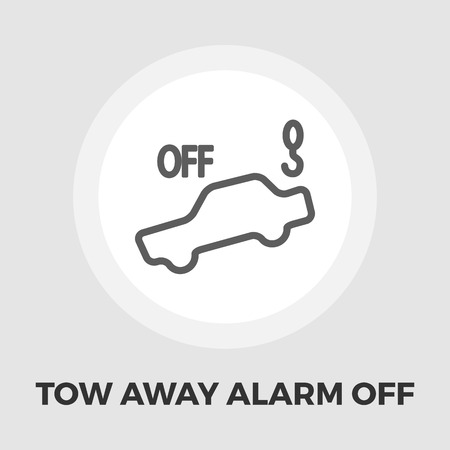 parking is prohibited: Tow away alarm off icon vector. Flat icon isolated on the white background. Editable EPS file. Vector illustration. Illustration