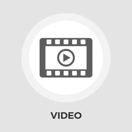 fullscreen: Video player icon vector. Flat icon isolated on the white background. Editable EPS file. Vector illustration.