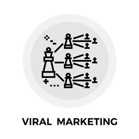 p2p: Viral Marketing icon vector. Flat icon isolated on the white background. Editable EPS file. Vector illustration.