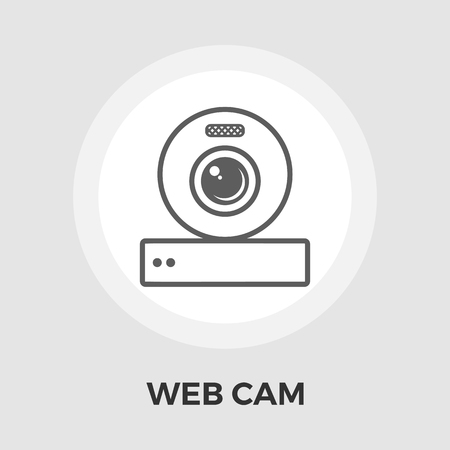 reflexion: Web cam icon vector. Flat icon isolated on the white background. Editable EPS file. Vector illustration.