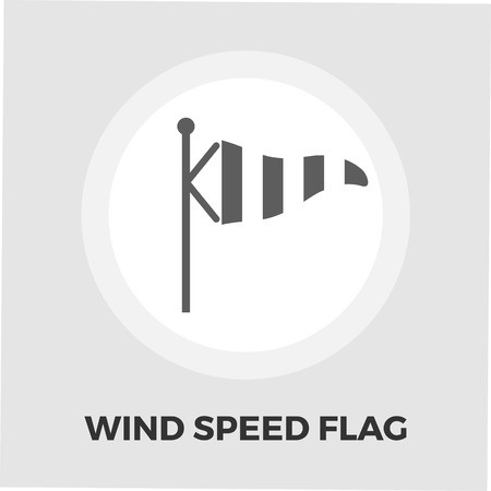 meteorologist: Wind Speed Flag icon vector. Flat icon isolated on the white background. Editable EPS file. Vector illustration.