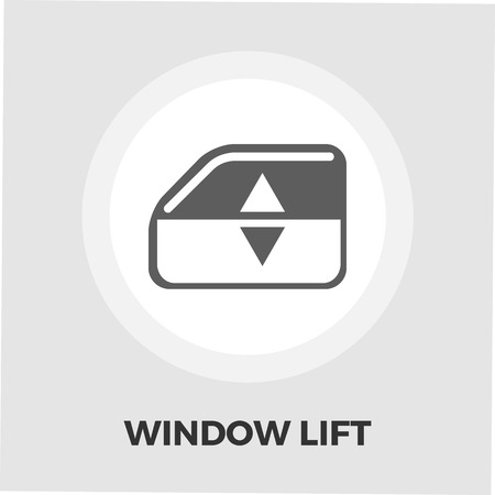 lift lock: Window lift icon vector. Flat icon isolated on the white background. Editable EPS file. Vector illustration.
