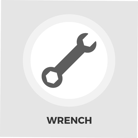pictogramme: Wrench icon vector. Flat icon isolated on the white background. Editable EPS file. Vector illustration.