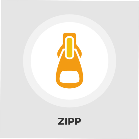 unbuttoned: Zipp icon vector. Flat icon isolated on the white background. Editable EPS file. Vector illustration. Illustration