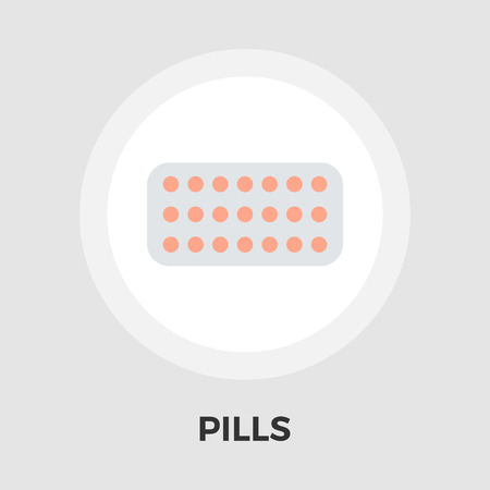 contraceptive: Contraceptive pills icon vector. Flat icon isolated on the white background. Editable EPS file. Vector illustration.