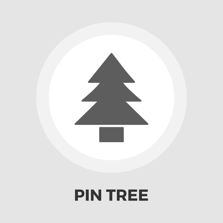 conifer: Conifer icon vector. Flat icon isolated on the white background. Editable EPS file. Vector illustration.