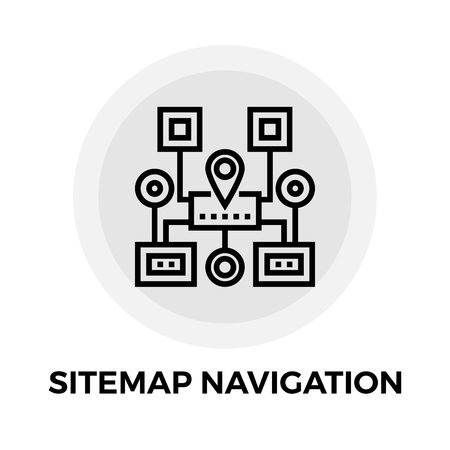 Sitemap Navigation icon vector. Flat icon isolated on the white background. Editable EPS file. Vector illustration.