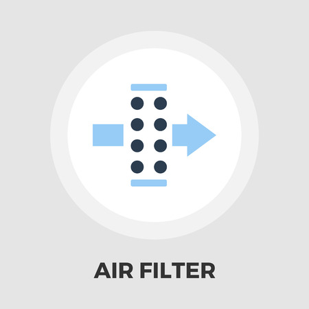 air filter: Air filter icon vector. Flat icon isolated on the white background. Editable EPS file. Vector illustration.