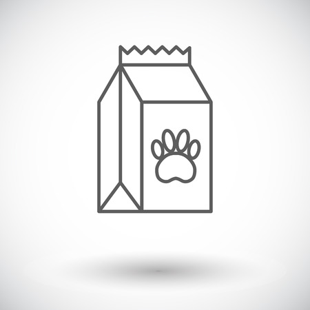 petshop: Pet food bag icon. Thin line flat vector related icon for web and mobile applications. It can be used as - logo, pictogram, icon, infographic element. Vector Illustration. Illustration