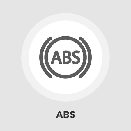 abs: ABS  icon vector. Flat icon isolated on the white background. Editable EPS file. Vector illustration.