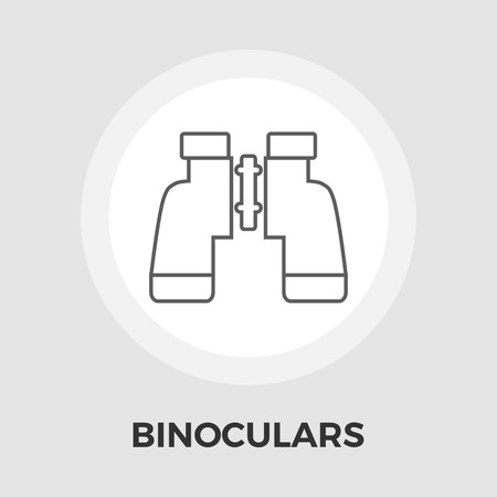 eps vector icon: Binoculars Icon Vector. Flat icon isolated on the white background. Editable EPS file. Vector illustration.