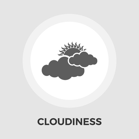 cloudiness: Cloudiness icon vector. Flat icon isolated on the white background. Editable EPS file. Vector illustration.