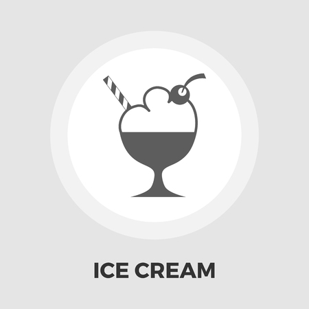 soft serve: Ice Cream Icon Vector. Flat icon isolated on the white background. Editable EPS file. Vector illustration.