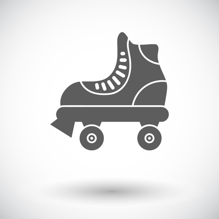 roller skate: Roller skate icon. Flat vector related icon for web and mobile applications. It can be used as - logo, pictogram, icon, infographic element. Vector Illustration.