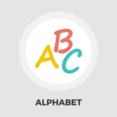 writing instruments: Alphabet icon vector. Flat icon isolated on the white background. Editable EPS file. Vector illustration. Illustration