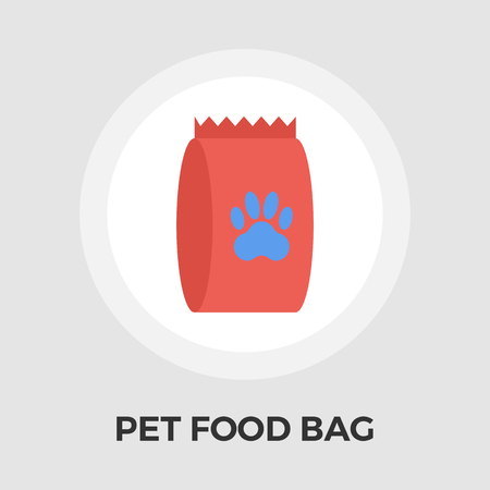 petshop: Pet food bag icon vector. Flat icon isolated on the white background. Editable EPS file. Vector illustration. Illustration
