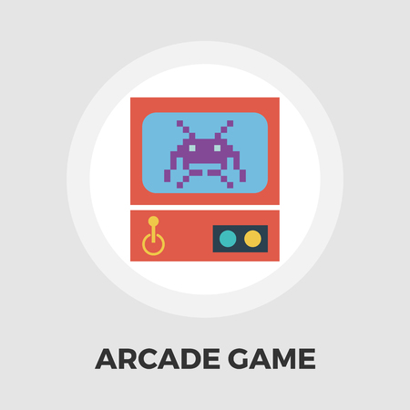 simulator: Retro Arcade Machine icon vector. Flat icon isolated on the white background. Editable EPS file. Vector illustration.