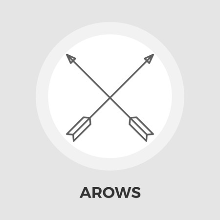 arow: Arows Icon Vector. Flat icon isolated on the white background. Editable EPS file. Vector illustration.
