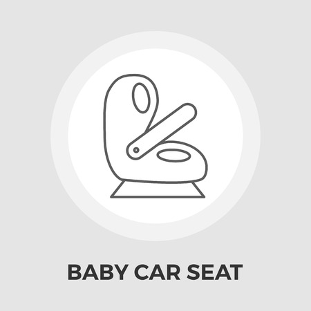 car seat: Child Car Seat Icon Vector. Flat icon isolated on the white background. Editable EPS file. Vector illustration. Illustration