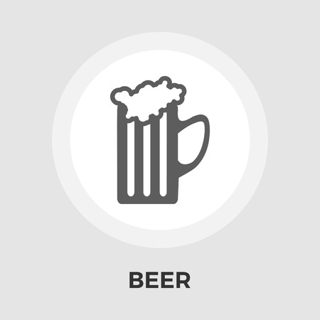 pint glass: Beer icon vector. Flat icon isolated on the white background. Editable EPS file. Vector illustration. Illustration