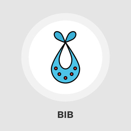 dinner wear: Bib icon vector. Flat icon isolated on the white background. Editable EPS file. Vector illustration.