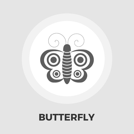 free image: Butterfly icon vector. Flat icon isolated on the white background. Editable EPS file. Vector illustration.
