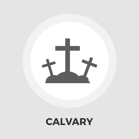 stigmata: Calvary icon vector. Flat icon isolated on the white background. Editable EPS file. Vector illustration.