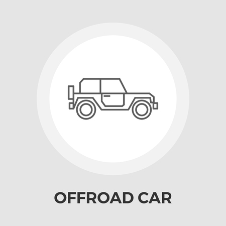 offroad car: Offroad car icon vector. Flat icon isolated on the white background. Editable EPS file. Vector illustration.