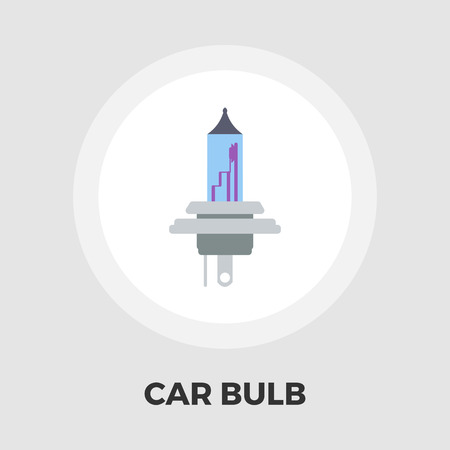 halogen: Xenon car lamp icon vector. Flat icon isolated on the white background. Editable EPS file. Vector illustration.