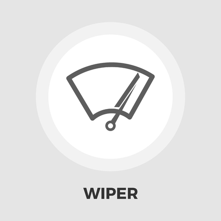 wiper: Wiper icon vector. Flat icon isolated on the white background. Editable EPS file. Vector illustration. Illustration