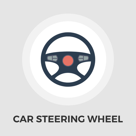 steering wheel: Car Steering Wheel icon vector. Flat icon isolated on the white background. Editable EPS file. Vector illustration. Illustration
