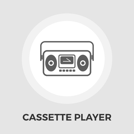 boom box: Boom box icon vector. Flat icon isolated on the white background. Editable EPS file. Vector illustration.