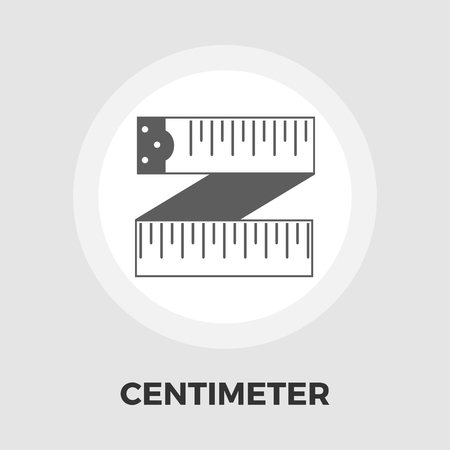 cintas metricas: Centimetr icon vector. Flat icon isolated on the white background. Editable EPS file. Vector illustration.