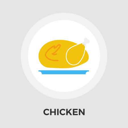 chiken: Chiken icon vector. Flat icon isolated on the white background. Editable EPS file. Vector illustration. Illustration
