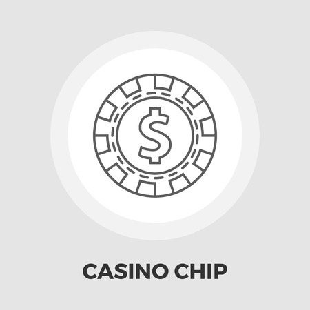 pursuit: Gambling chips icon vector. Flat icon isolated on the white background. Editable EPS file. Vector illustration. Illustration