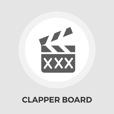 flick: Director clapperboard icon vector. Flat icon isolated on the white background. Editable EPS file. Vector illustration.