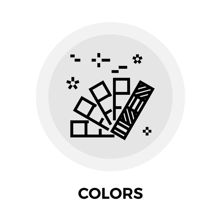 swatch book: Colors Icon Vector. Flat icon isolated on the white background. Editable EPS file. Vector illustration.
