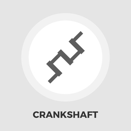 spare part: Crankshaft icon vector. Flat icon isolated on the white background. Editable EPS file. Vector illustration. Illustration