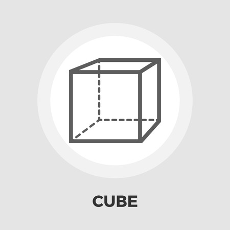 Geometric cube icon vector. Flat icon isolated on the white background. Editable EPS file. Vector illustration. Illustration