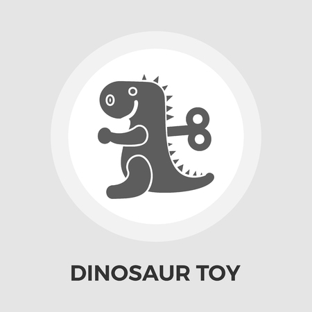 eps vector icon: Dinosaur toy Icon Vector. Flat icon isolated on the white background. Editable EPS file. Vector illustration.