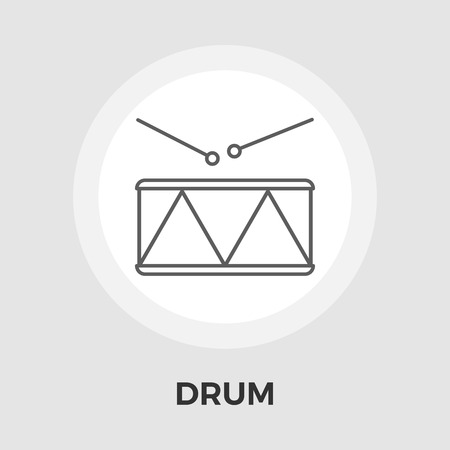 drumming: Drum icon vector. Flat icon isolated on the white background. Illustration