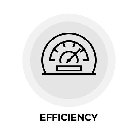 Effizienz-Symbol Vektor. Flach-Symbol auf dem weißen Hintergrund. Editierbare EPS-Datei. Vektor-Illustration. Vektorgrafik