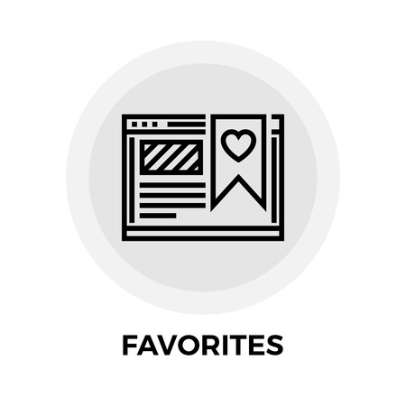 favorites: Favorites icon vector. Flat icon isolated on the white background. Editable EPS file. Vector illustration. Illustration