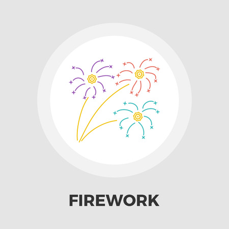 newyears: Firework icon vector. Flat icon isolated on the white background. Editable EPS file. Vector illustration.