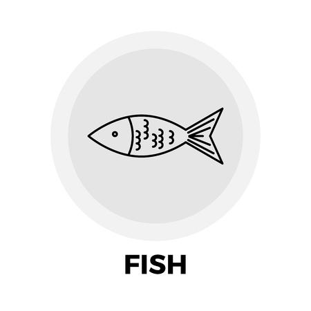 Vecteur d'icône de poisson. Icône plate isolée sur fond blanc Fichier EPS modifiable Illustration vectorielle Vecteurs